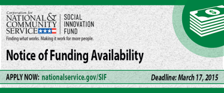 Social Innovation Fund Grants 2015