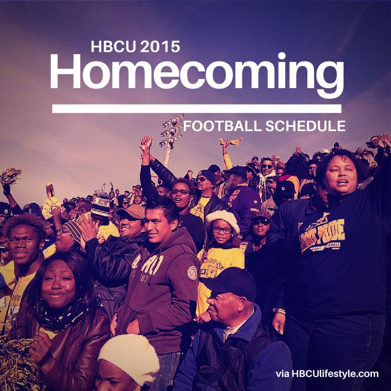 HBCU 2015 Homecoming Football Schedule